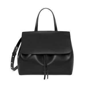 Mansur Gavriel Large Lady Bag Black Flamma Red